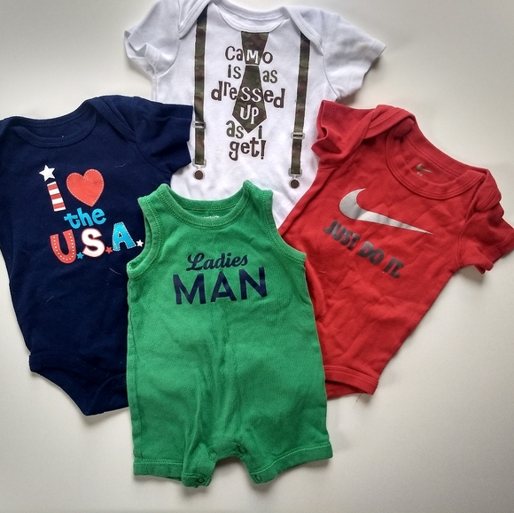 Carter's Other - ✨ 5/$25✨👶3-6 mo Boys Onsies